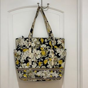 Vera Bradley quilted tote large dogwood